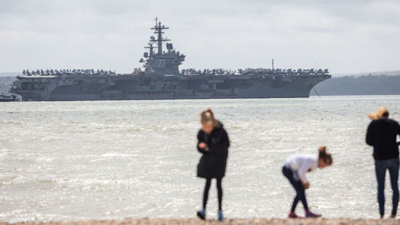 US sailor killed in accident aboard aircraft carrier