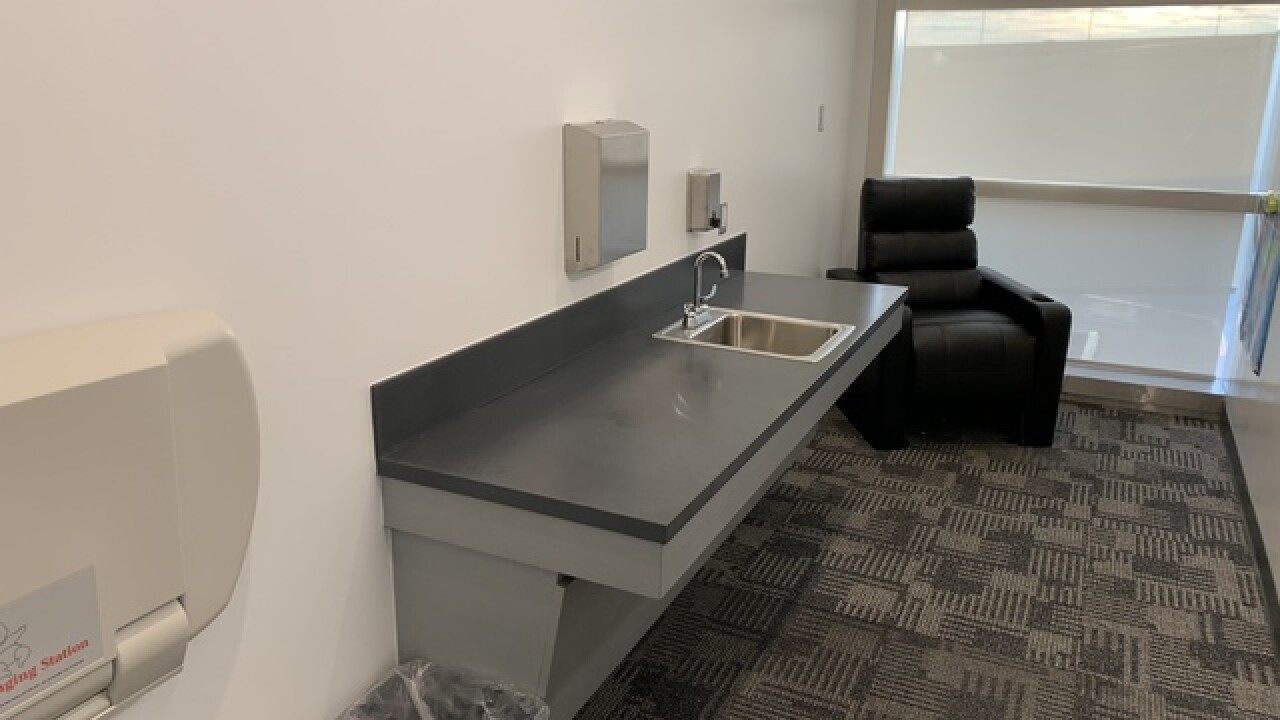 Private nursing rooms open at DTW