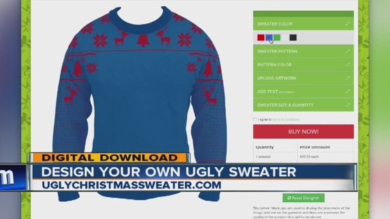 8cda5c2ea Need some outrageous holiday attire  Web tool lets you design your own ugly  Christmas sweater