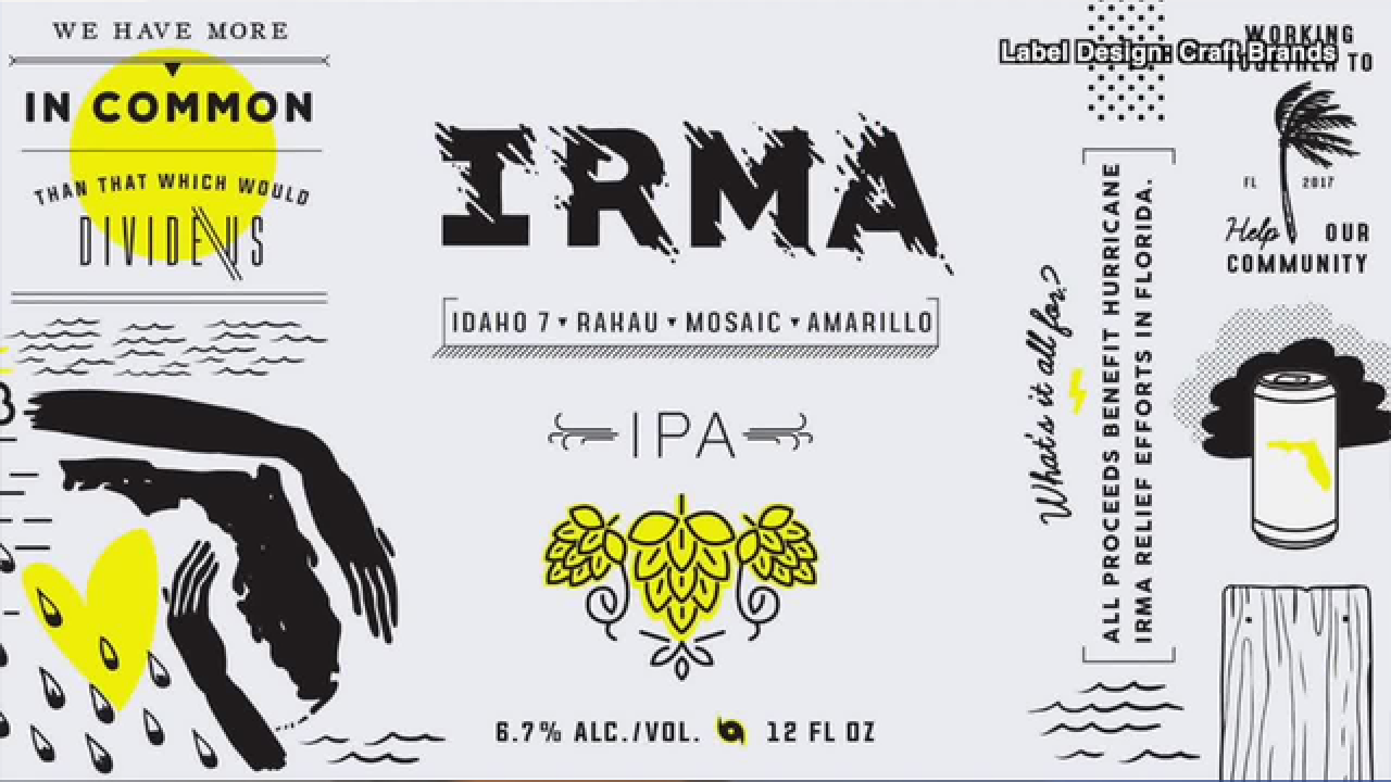 "Drink beer for a good cause! Try ""IRMA"""