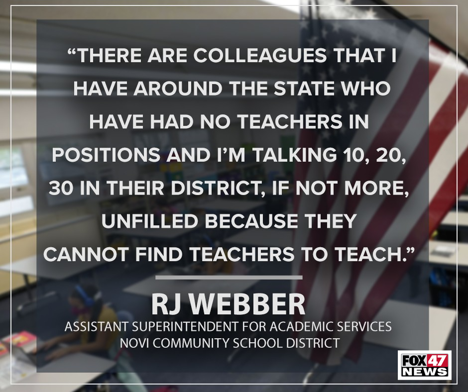Dr. RJ Webber, Assistant Superintendent Academics Novi School District