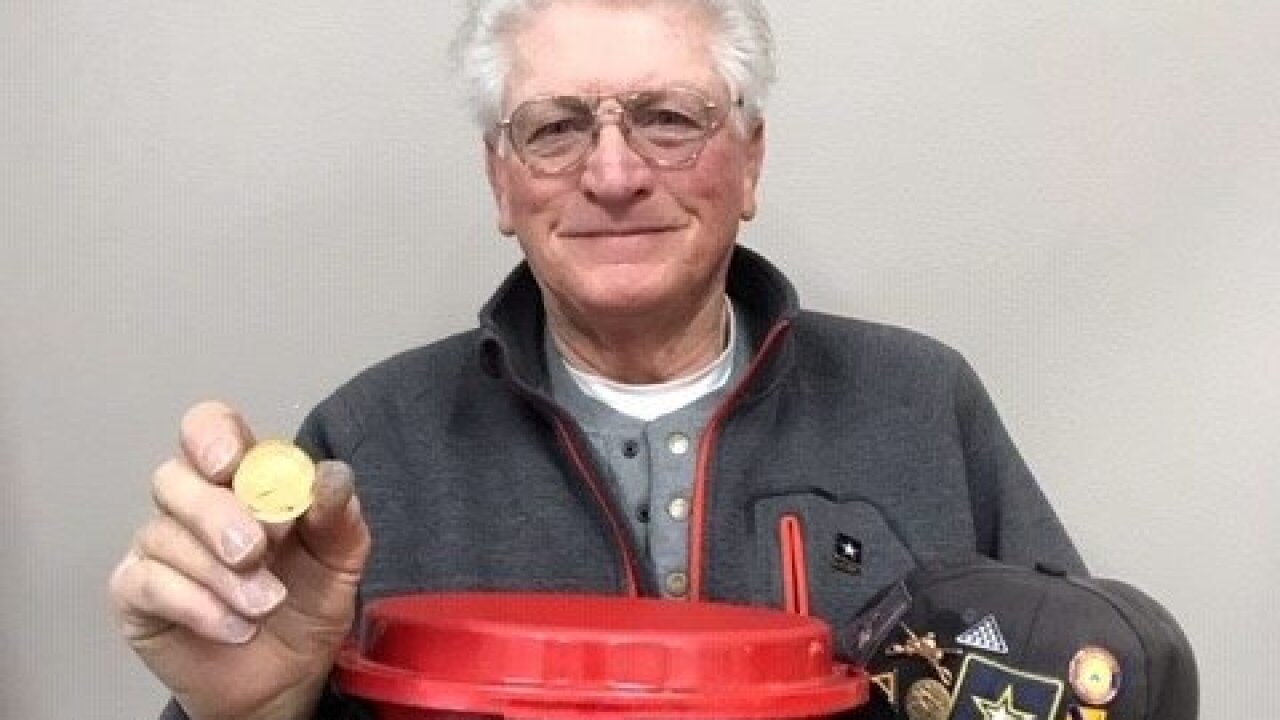 Anonymous donor drops coin worth $1,500 in Salvation Army kettle for 21st year in a row