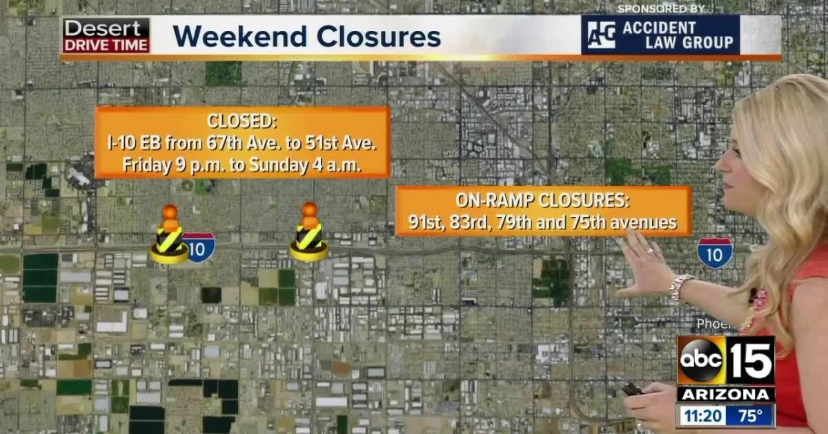 Map Of Loop 202 Arizona.Weekend Travel Alert April 5 8 Parts Of I 10 Will Close