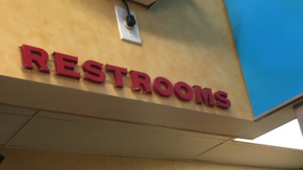 Gas station installs anti-heroin lighting in bathrooms