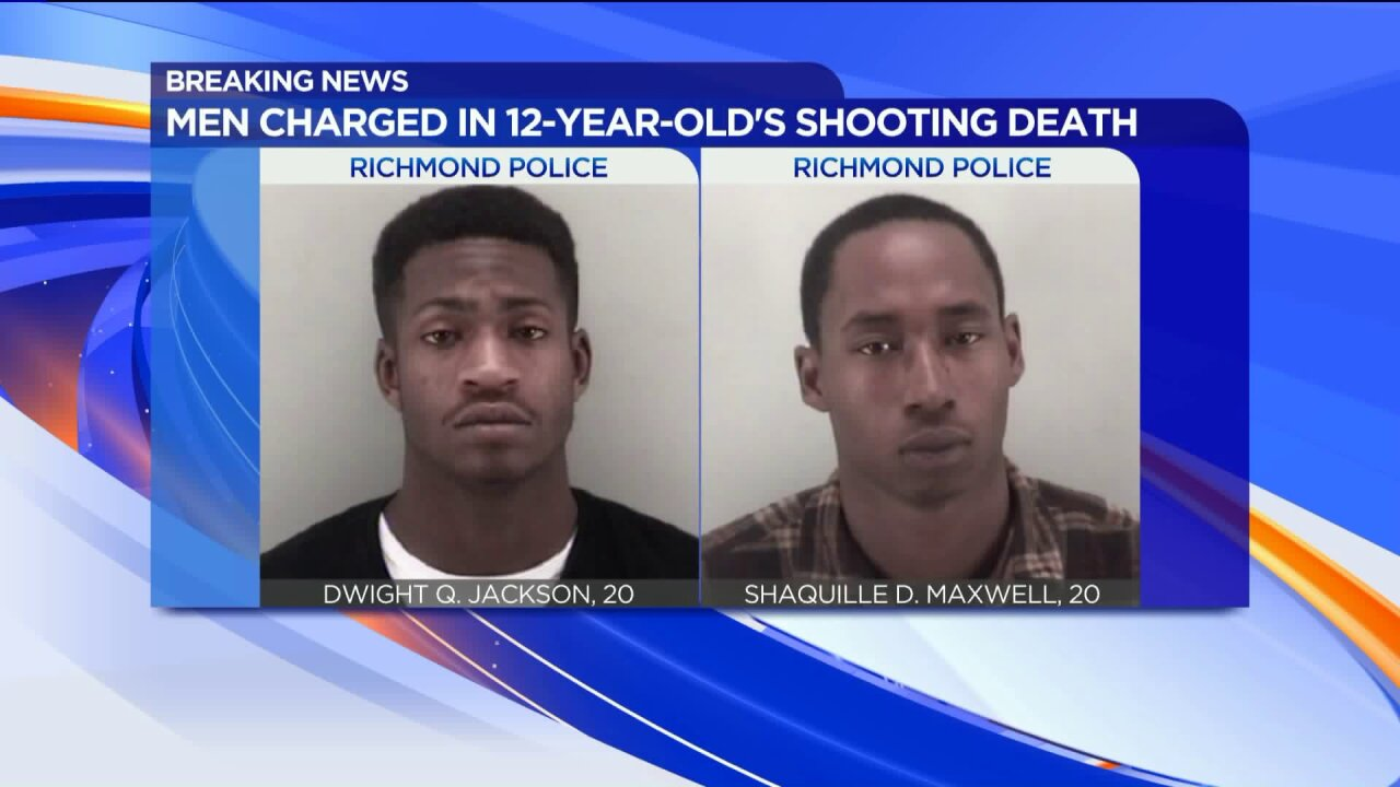 Richmond Police release mug shots of suspects charged with 12-year-old's murder