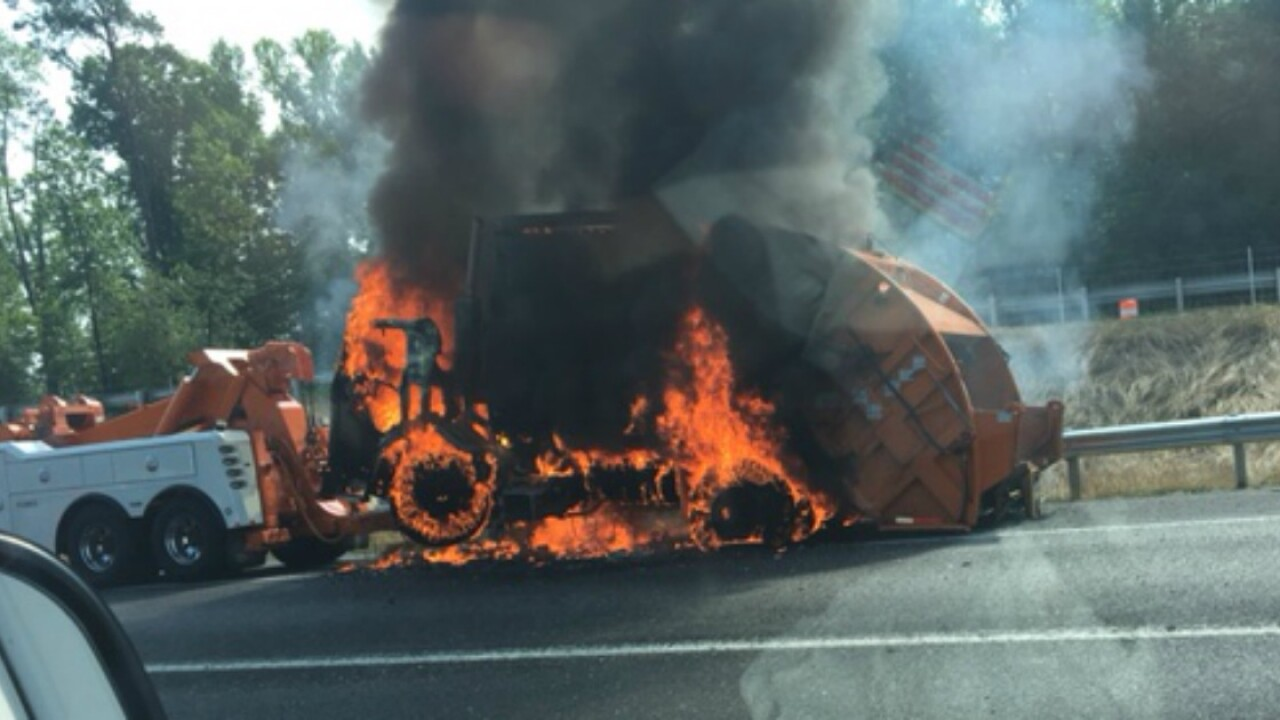 Vehicle fire creates traffic back ups inHanover