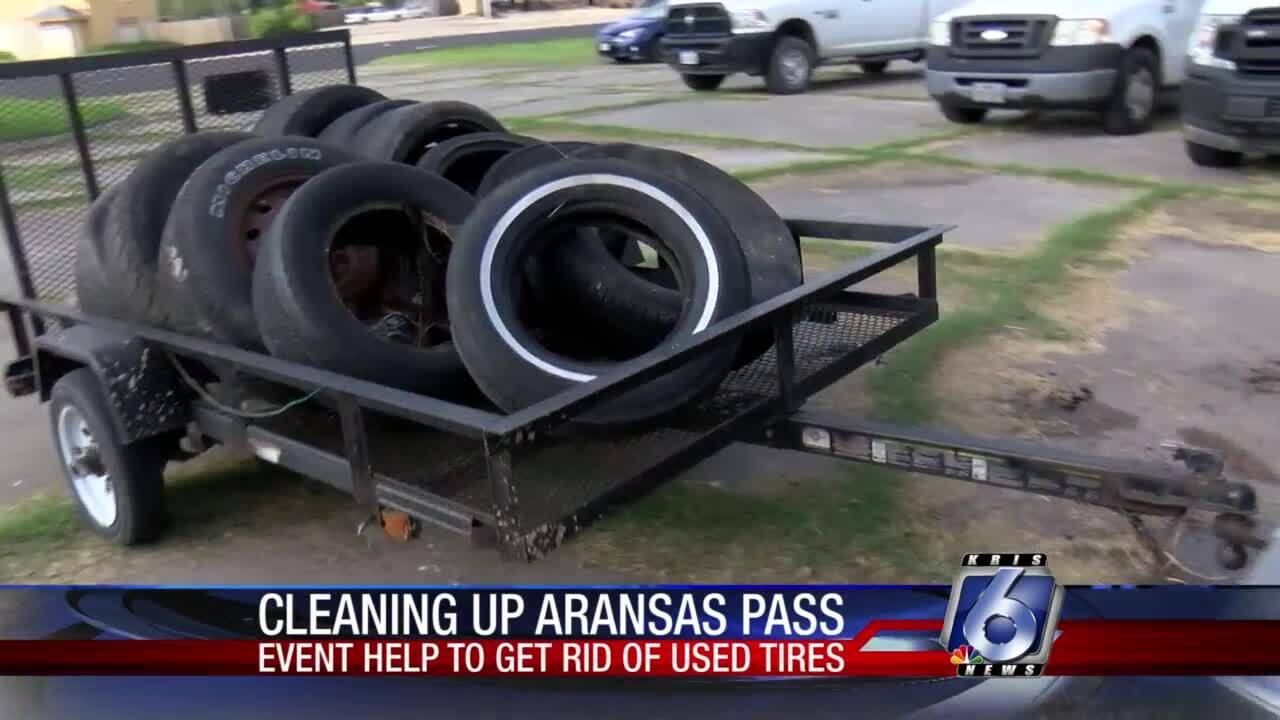 Cleaning-up-Aransas-Pass-tire-take-back-Aransas-Pass-Code-Enforcement