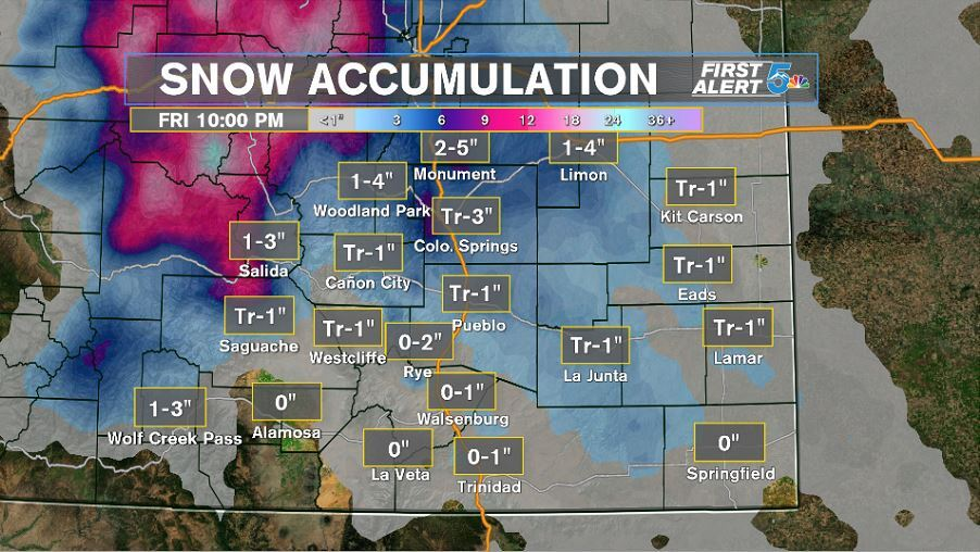 Snow Accumulation from 2/6 through 2/7 2020