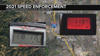 "Speeders tracked at ""completely unsafe"" speeds by CSPD radar guns"