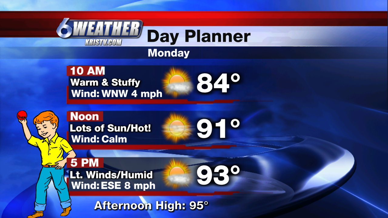 6WEATHER Monday Day Planner