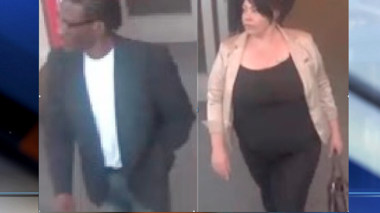 Pair sought in connection to stolen credit cards