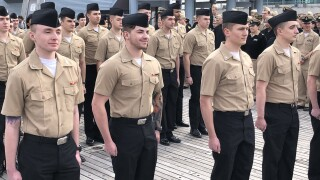 39 Sailors re-enlist in Norfolk for a combined 232 years