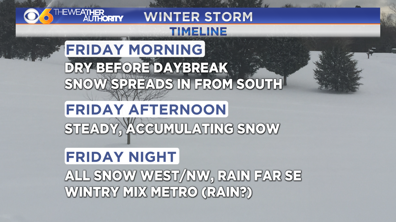 When will the snow arrive? Hour-by-hour look at winter storm inVirginia