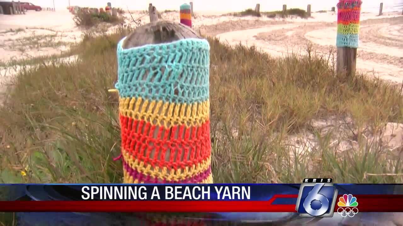 Port Aransas bollards protect and entertain beachgoers