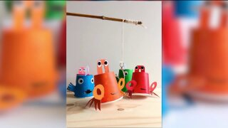 Indoor ice fishing game will keep the kidsentertained