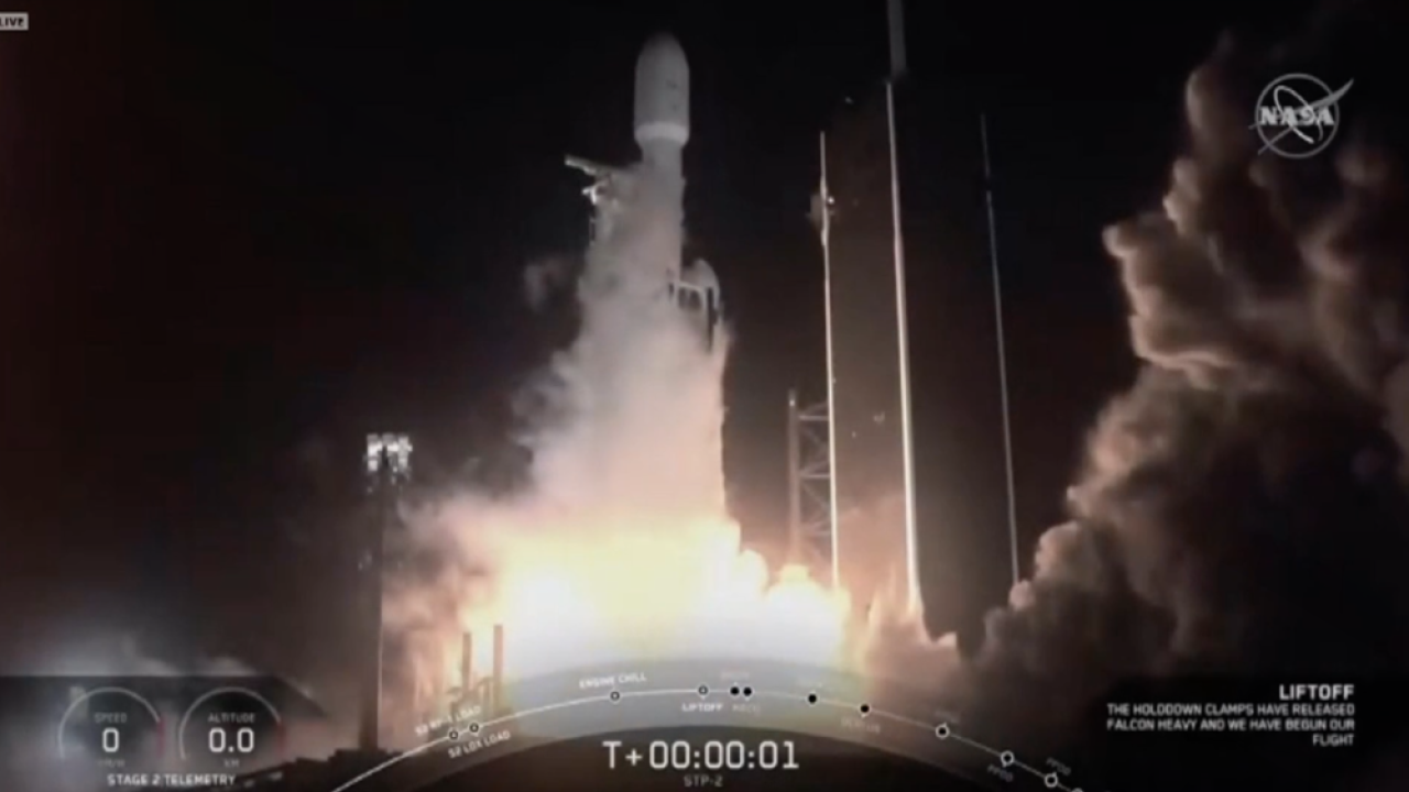 Falcon Heavy rocket launch night June 25 2019