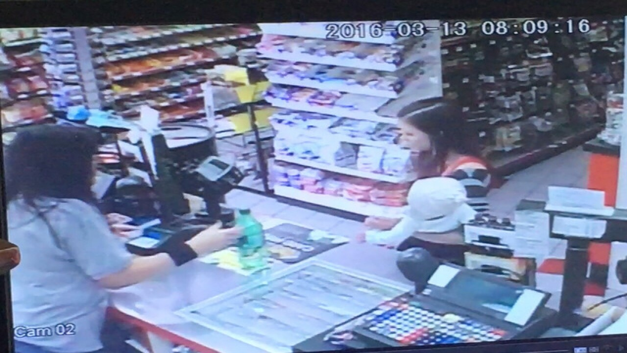 Store clerk grabs baby as mother collapses