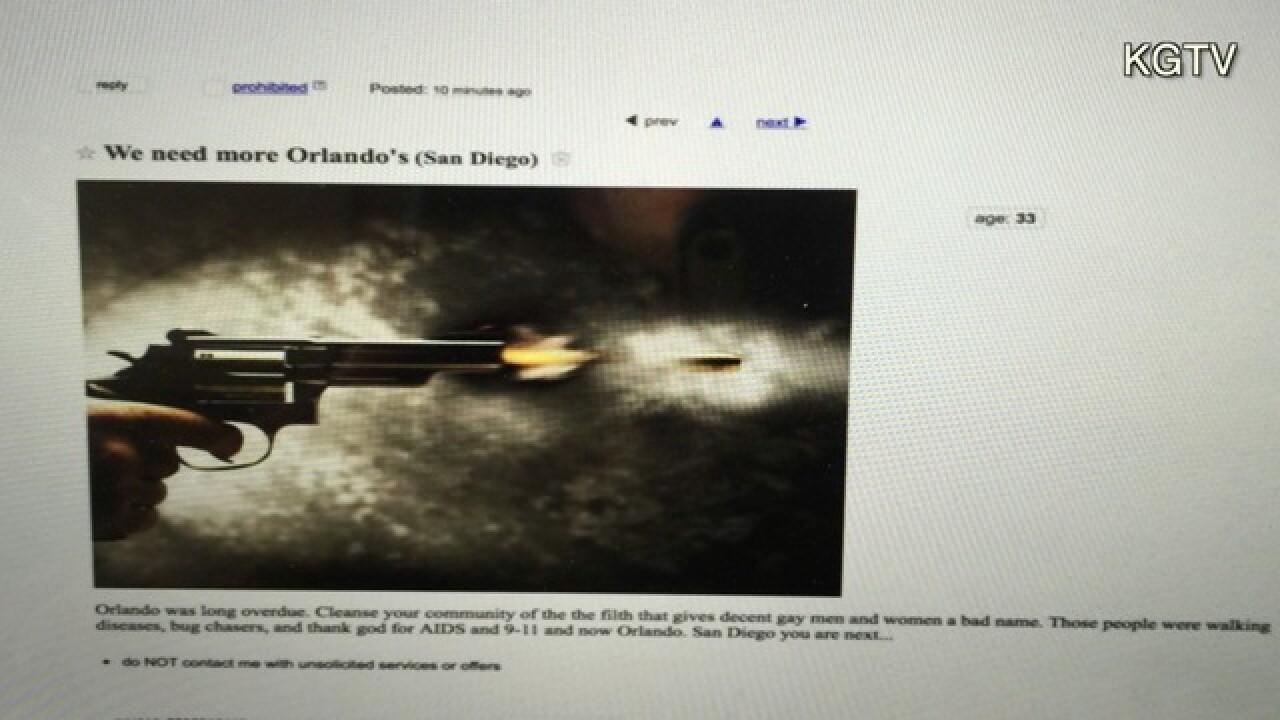 Craigslist ad threatens massacre in San Diego