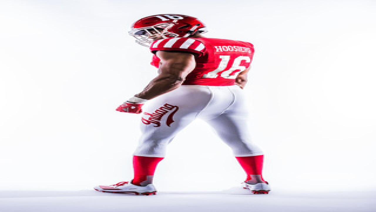 LOOK: IU unveils Candy Stripe football uniforms