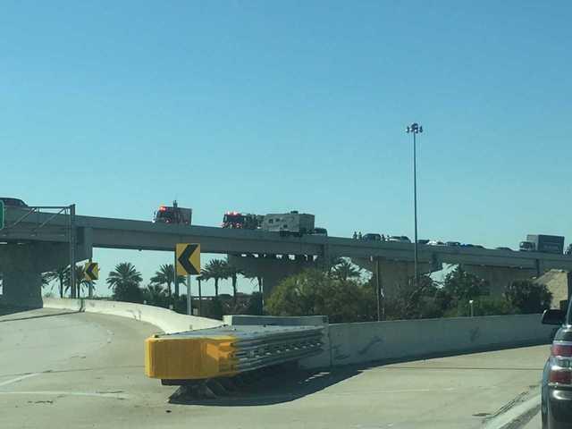 Photos: Camper hangs off I-275 overpass in St. Petersburg