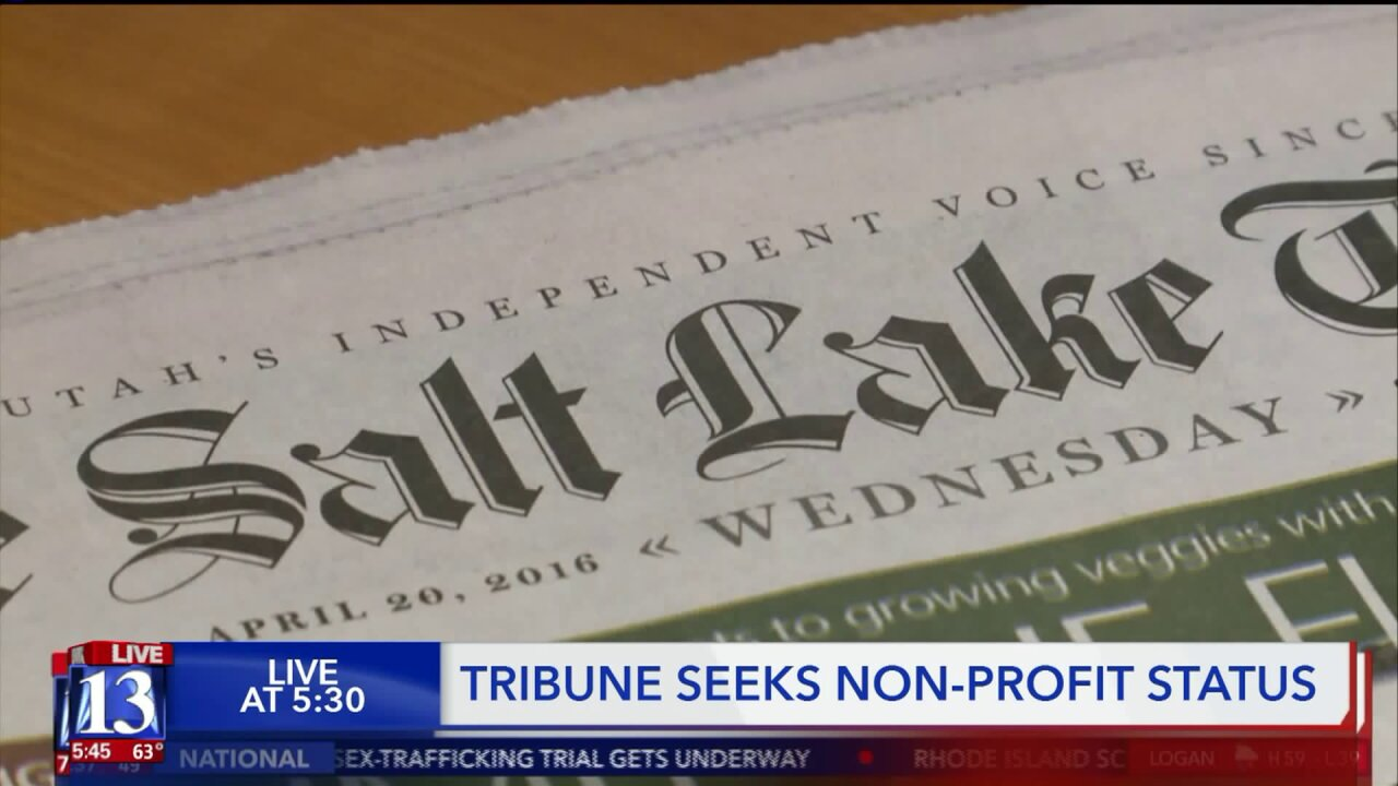 Salt Lake Tribune intends to become non-profit to remain financiallyviable