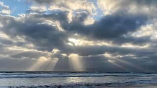 Coastal clouds vs. sun