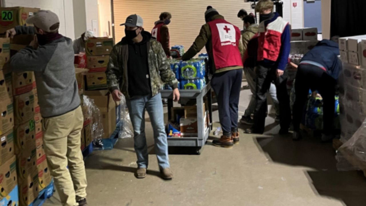 Red Cross Aggie Volunteers Reed Arena