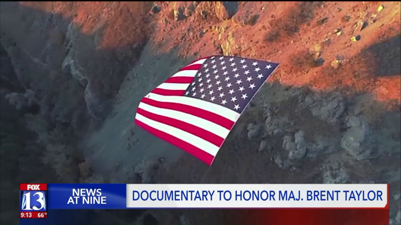 New documentary shows the behind-the-scenes efforts to raise a giant flag to honor Major Brent Taylor