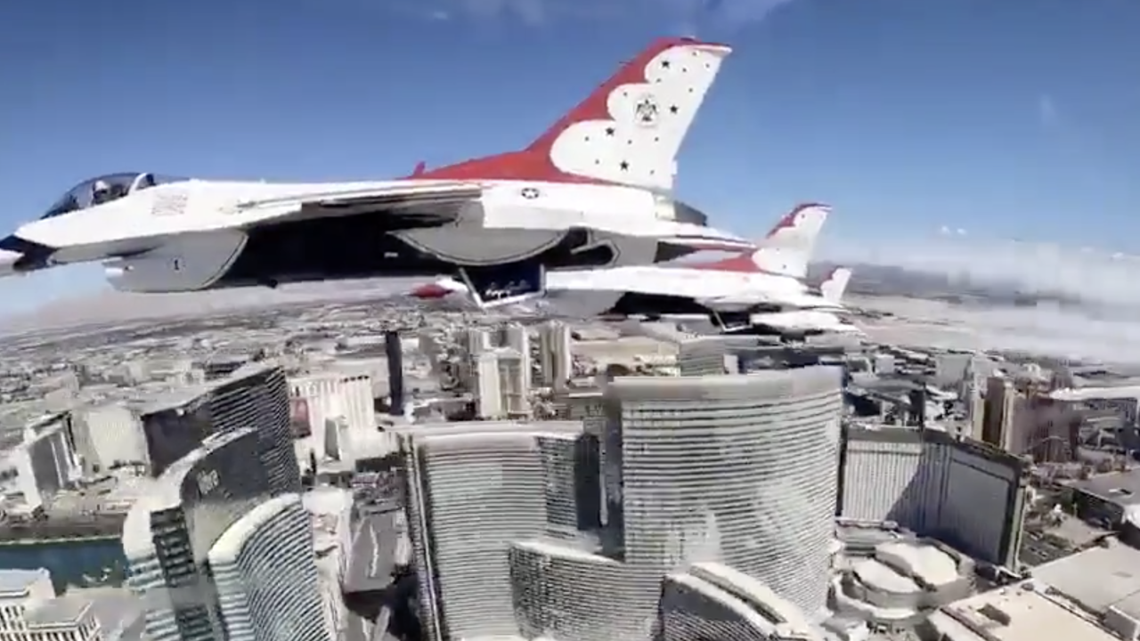 WATCH: Thunderbirds thank front line workers with Las Vegas hospital flyover