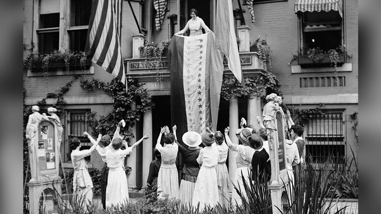 The 19th Amendment was passed 100 years ago today, officially granting women the right to vote
