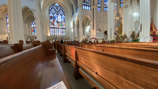 The Cathedral Basilica of the Immaculate Conception Preps for Christmas