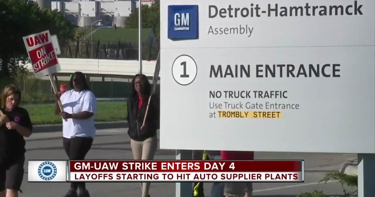 UAW strike enters day 4, layoffs could hit auto supplier plants