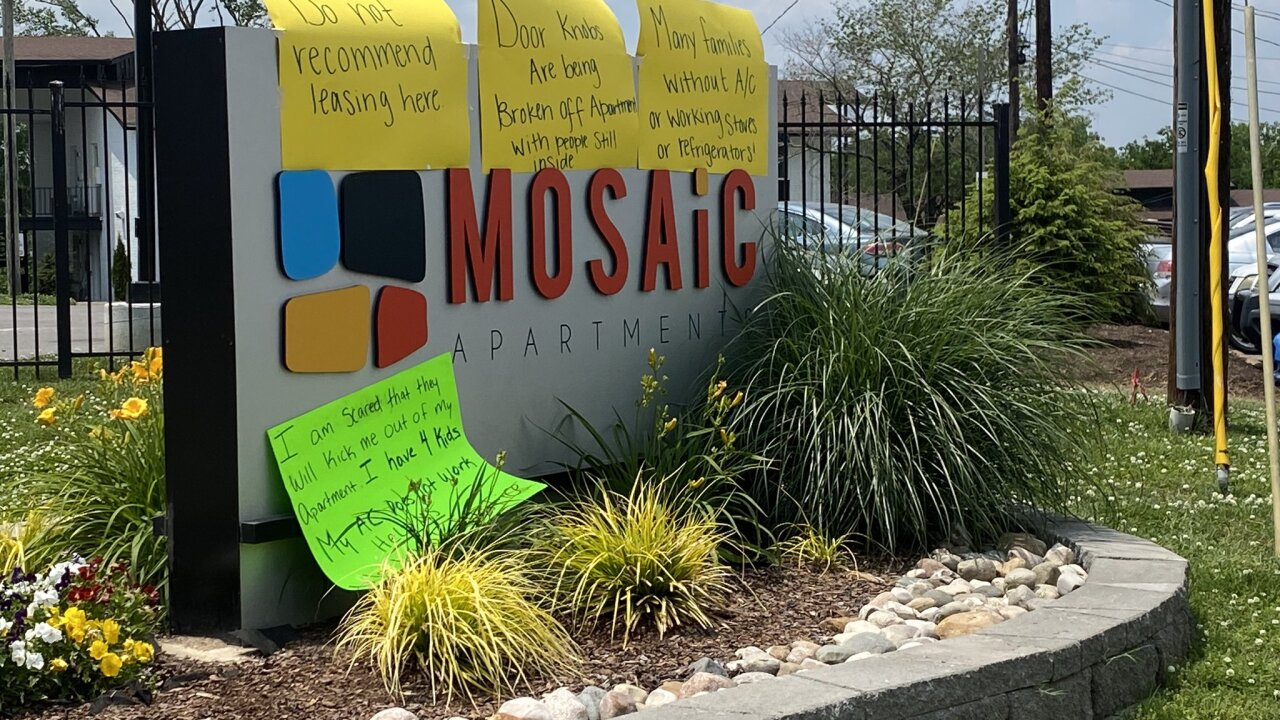 Mosaic Apartments Protest