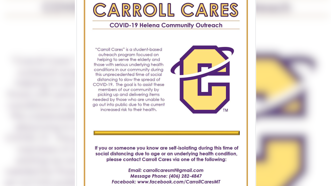 Carroll Cares offers free assistance to those vulnerable to the virus