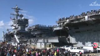 Photos: USS George H.W. Bush and USS Truxtun returnhome