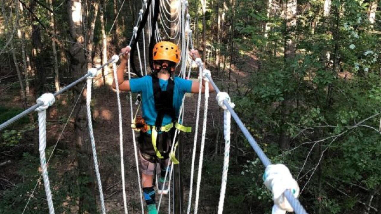 Ropes course opens tucked away in the woods of Powhatan