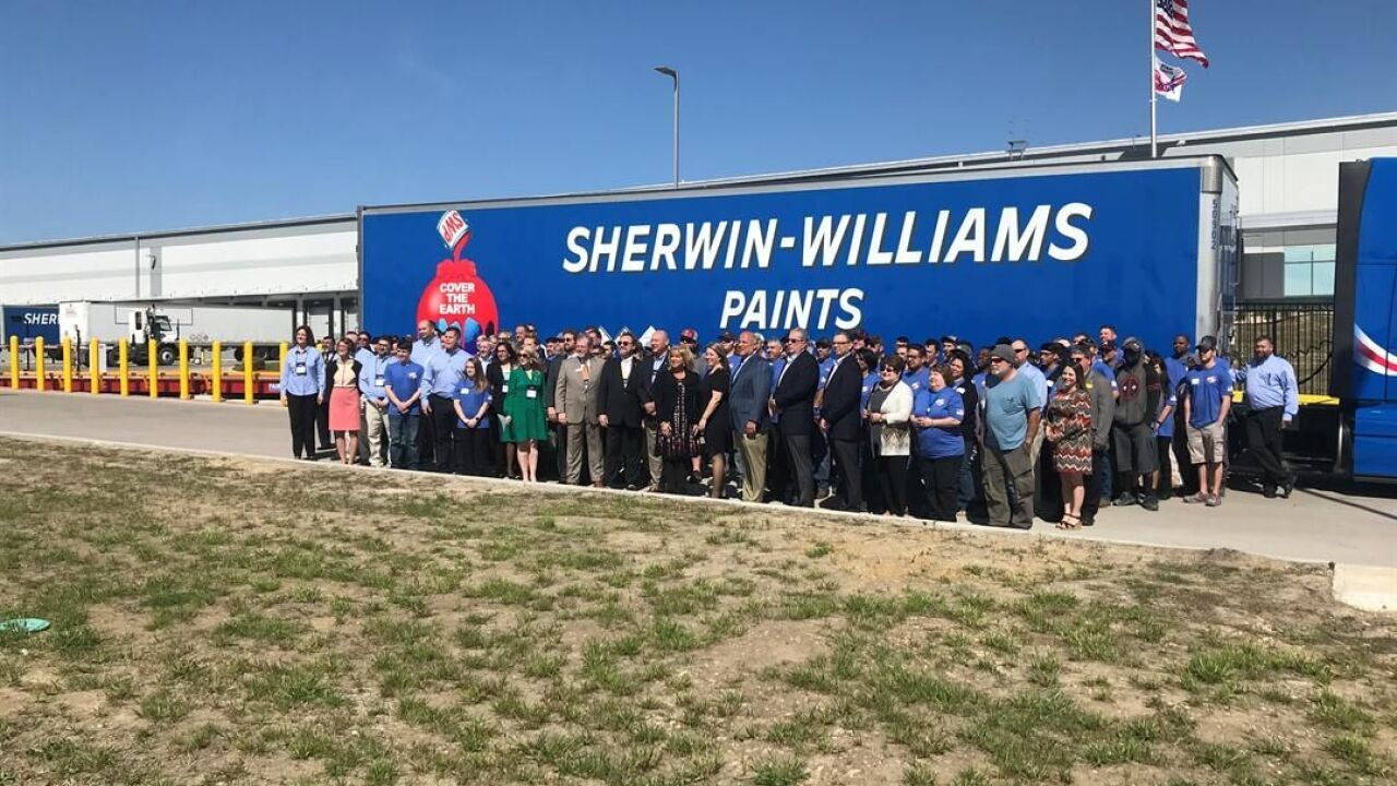 Sherwin-Williams new distribution service center brings 90 jobs to Waco