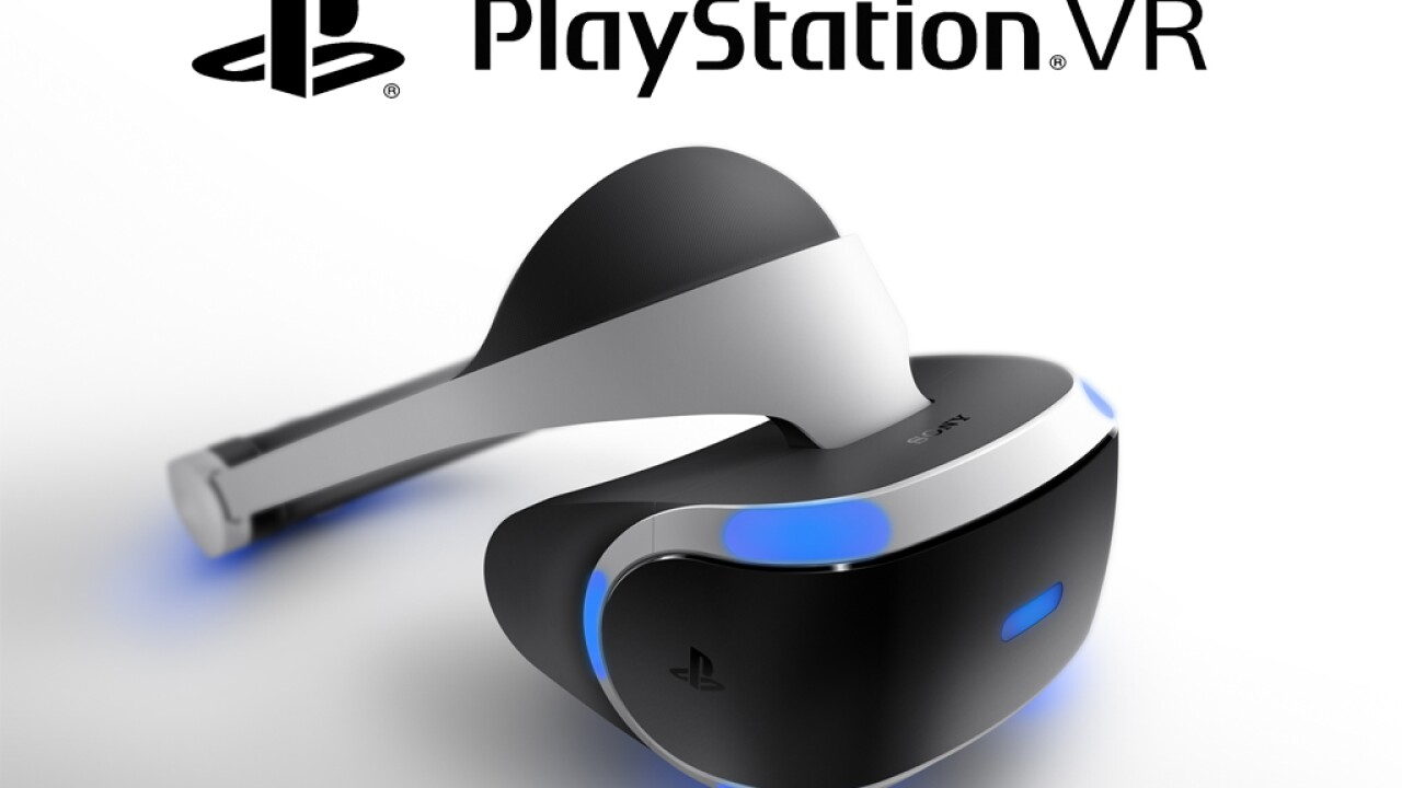 Sony's PlayStation VR to release in October