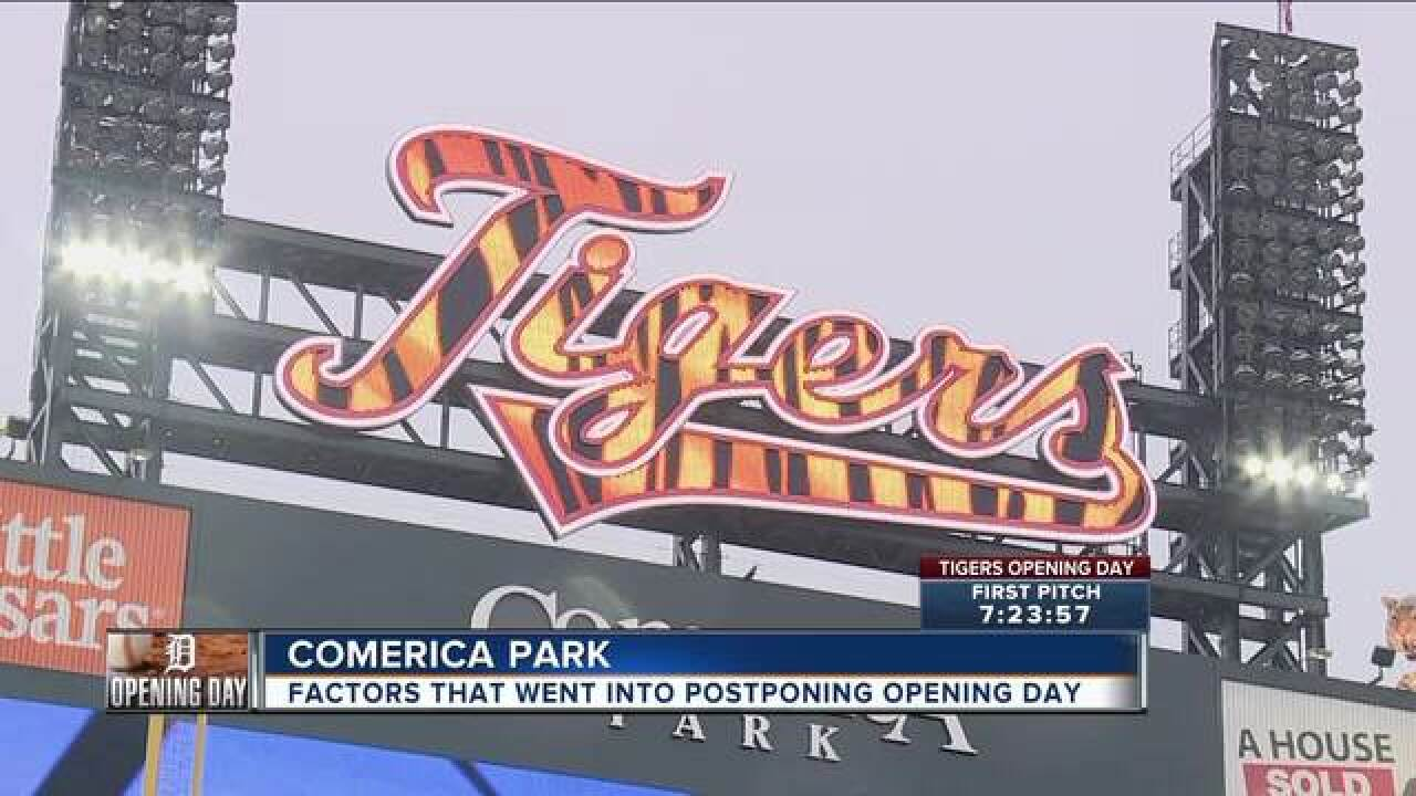 What factors into postponing Opening Day?