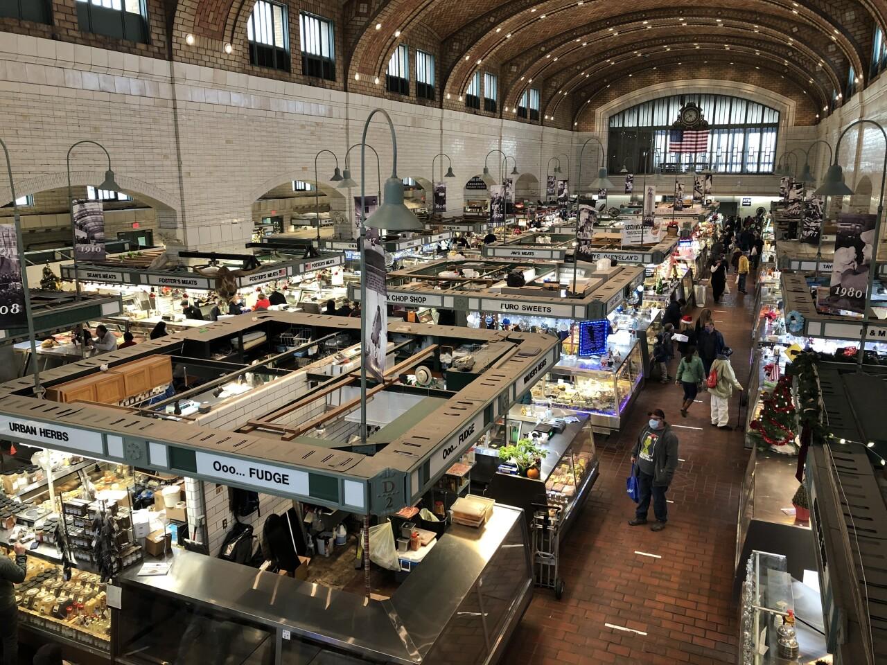 West Side Market during holidays