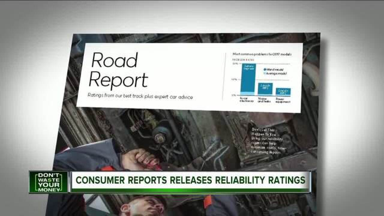 Consumer Reports releases reliability ratings