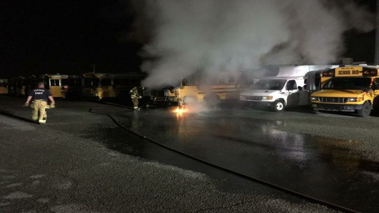 Sunnyside School District bus catches fire