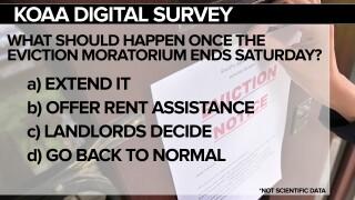 KOAA DIGITAL SURVEY: What should happen once the eviction moratorium ends Saturday?