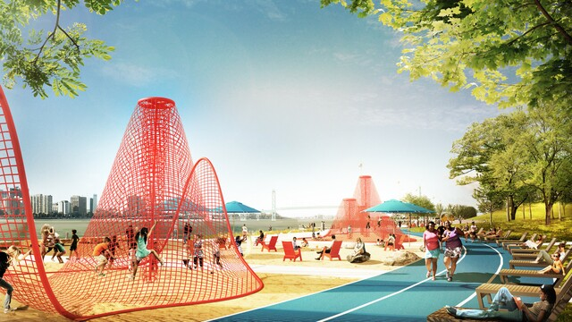 Photo gallery: Design firms reimagine 22-acre park on Detroit west riverfront