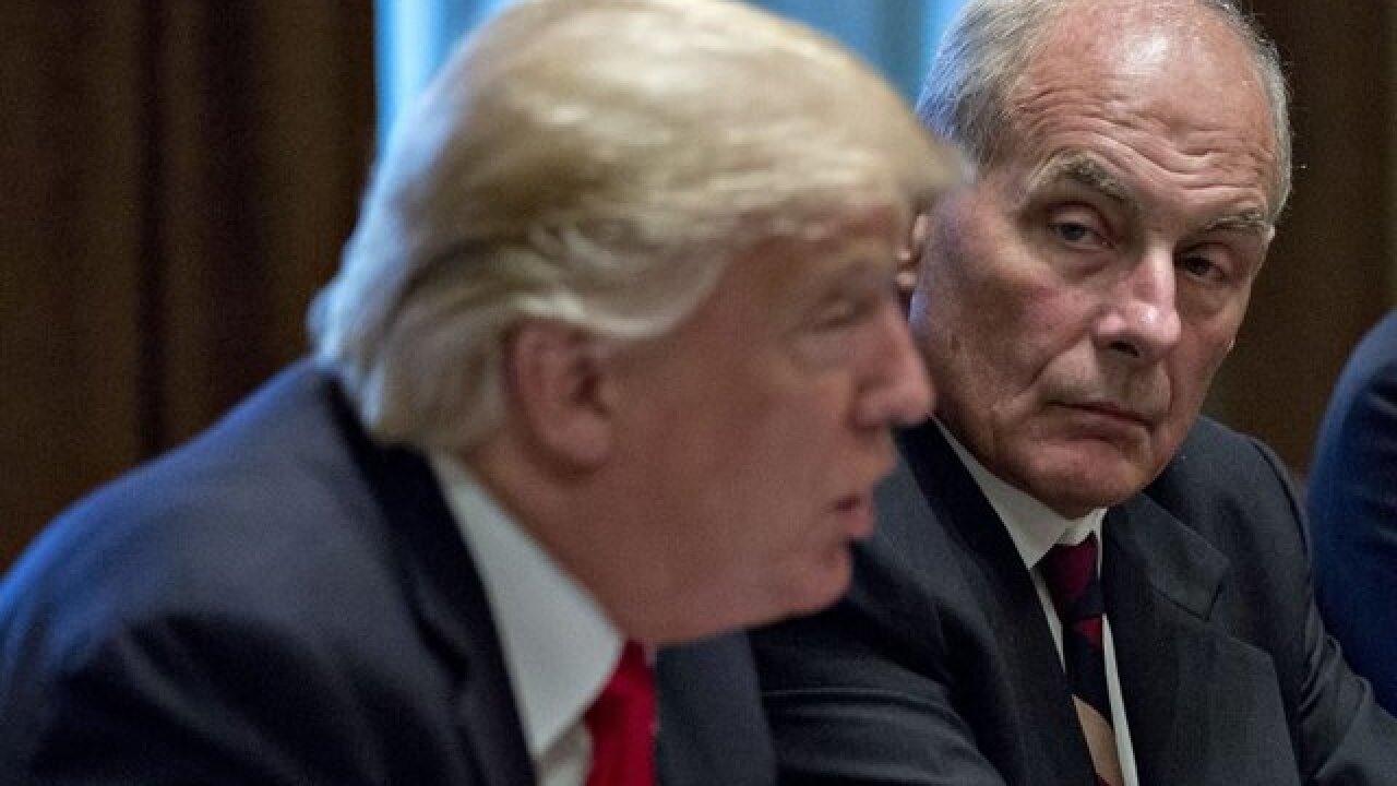 Kelly calls 'BS' on report he called Trump an idiot