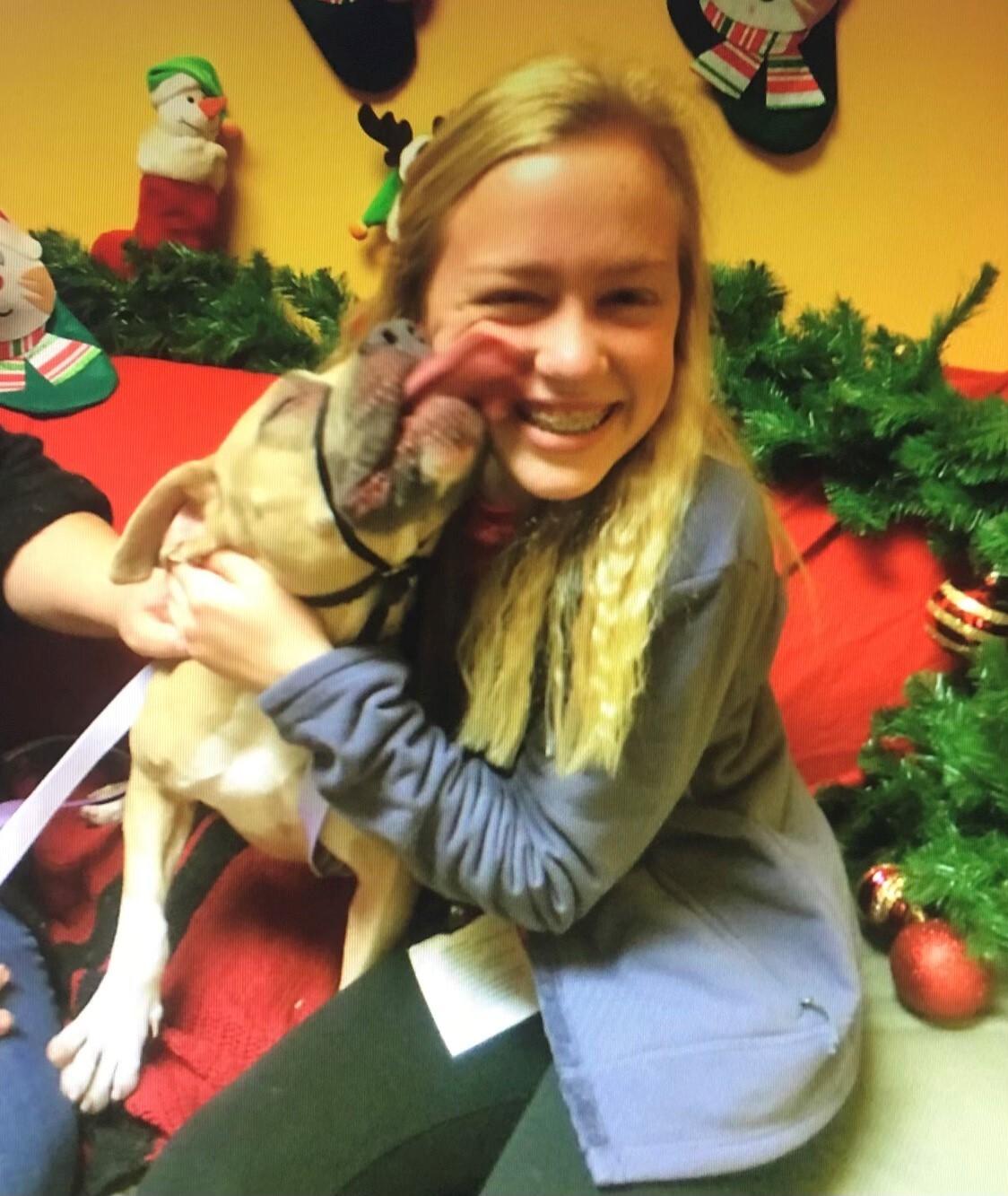 Taylor Walton alongside shelter dog, Fawn, in 2017.  (Courtesy: Taylor Walton)