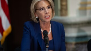 DeVos to students: Don't hide behind a Twitter handle