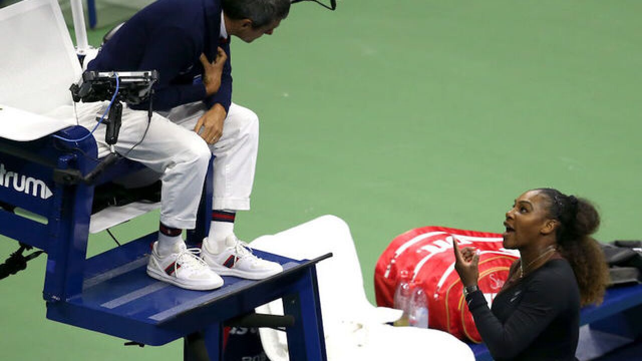 Serena Williams is fined $17,000 for violations during her US Open loss