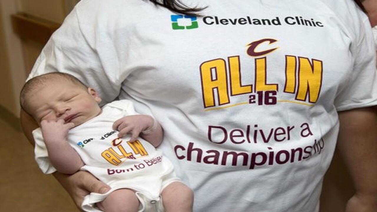 the latest dedd0 ab78e CLE babies vie for best-dressed Cavs fans title