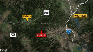 Hunter from Great Falls rescued SE of Lincoln after breaking his leg